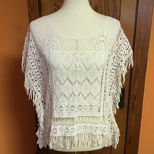 Maurice's boho lace feminine cover up top